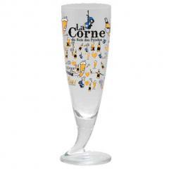 La Corne (Brasserie d'Ebly) Пивной бокал La Corne (рог на ножке) 330 мл