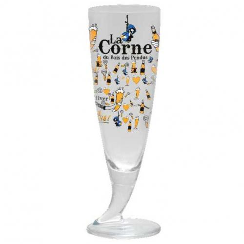 La Corne (Brasserie d'Ebly) - Пивной бокал La Corne (рог на ножке) 330 мл