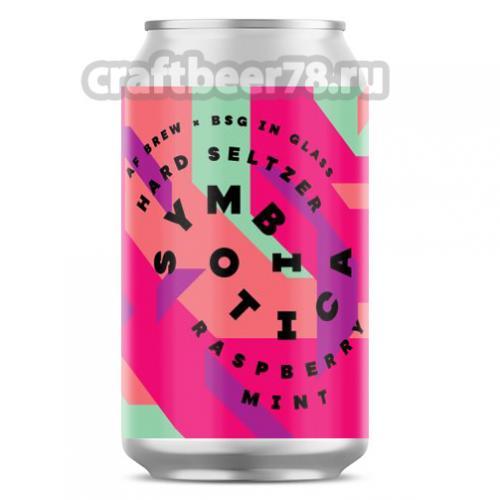 AF Brew - Symbiotica Hard Seltzer. Raspberry × Mint