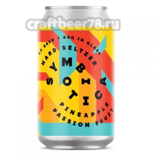 AF Brew - Symbiotica Hard Seltzer. Pineapple × Passion Fruit