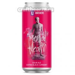 Четыре пивовара - Mental Health [Extra Black Currant]